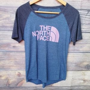 THE NORTH FACE women's tee in navy & gray size S